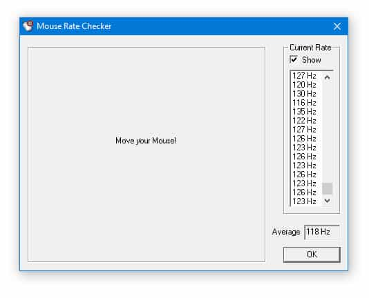 Download Mouse Rate Checker To Check Mouse Polling Rate
